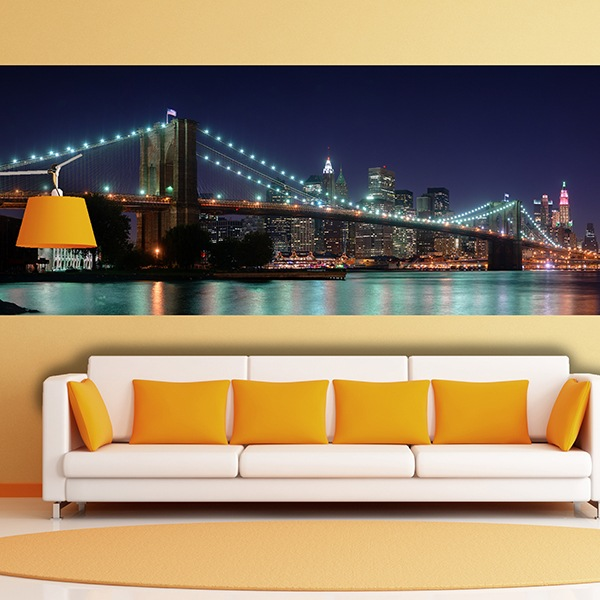 Wall Murals: Overview of the Brooklyn Bridge