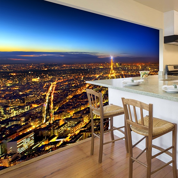 Wall Murals: Paris lighting up the night