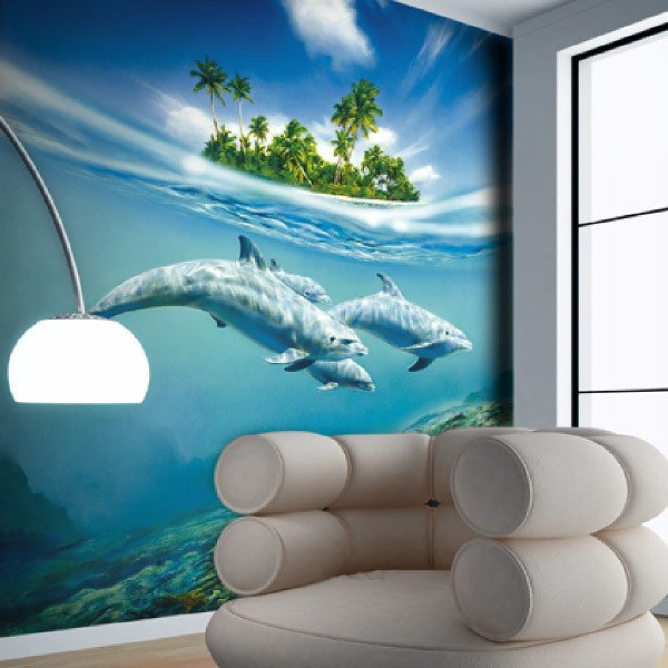 Wall Murals: Dolphins1