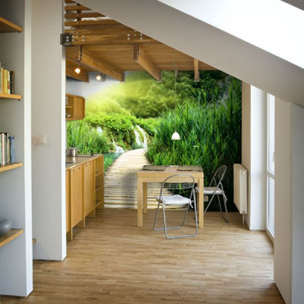 Wall Murals: Wooden path to paradise