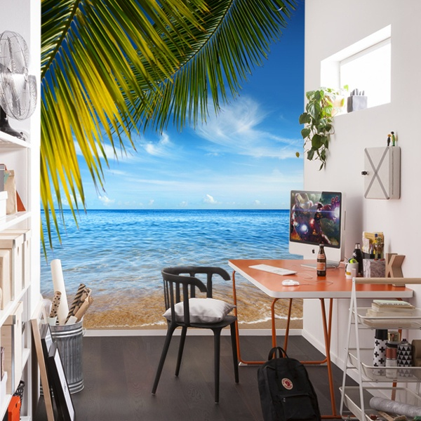 Wall Murals: Beach under the palm tree