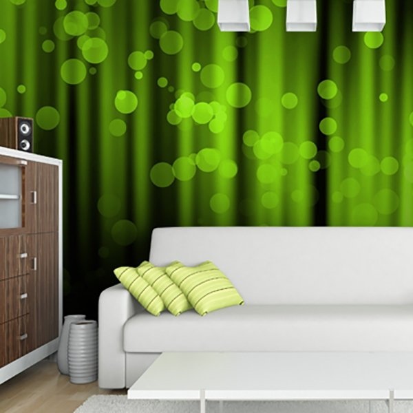 Wall Murals: Green Abstract Art