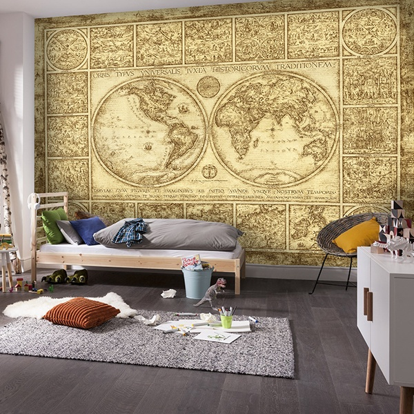 Wall Murals: World map Orvis Typus Universalis