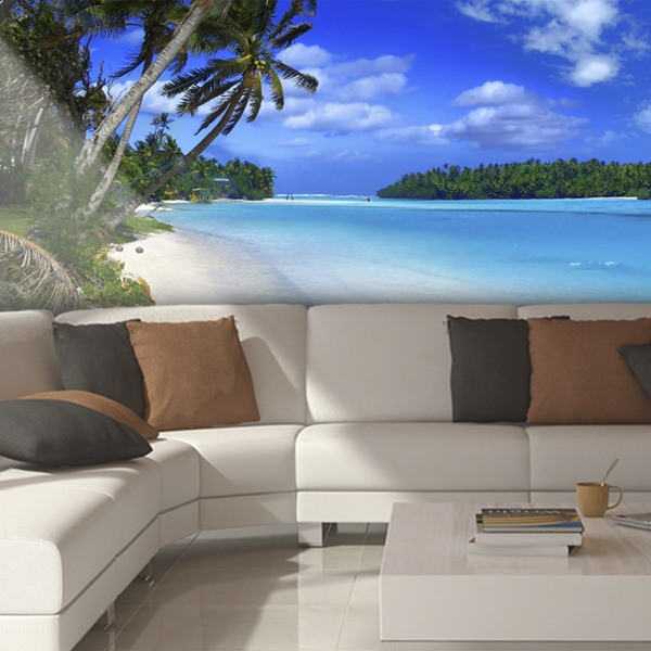 Wall Murals: Panoramic Beach