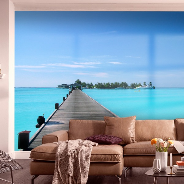 Wall Murals: Footbridge in the Caribbean