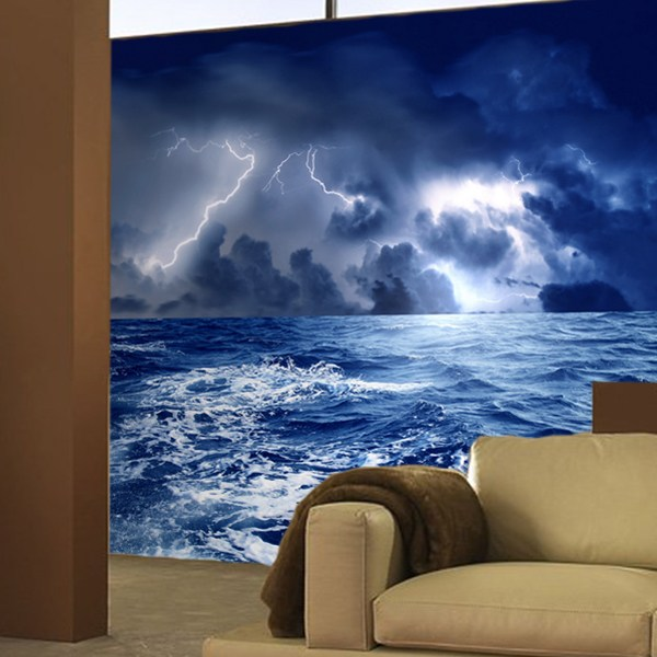 Wall Murals: Storm in the Sea
