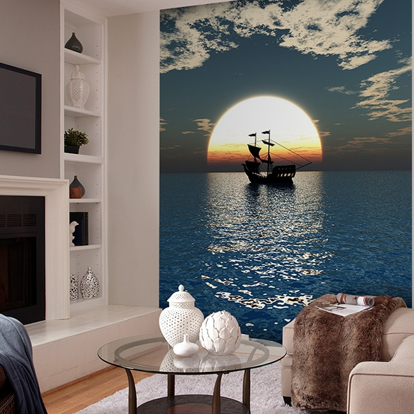 Wall Murals: Ship sailing the seas