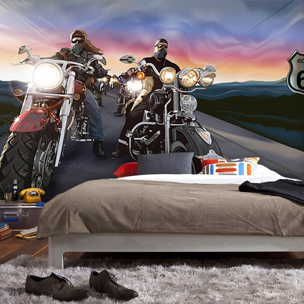 Wall Murals: Comic bikers