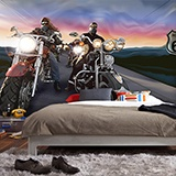 Wall Murals: Bikers Route 66 2
