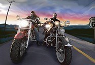 Wall Murals: Bikers Route 66 3