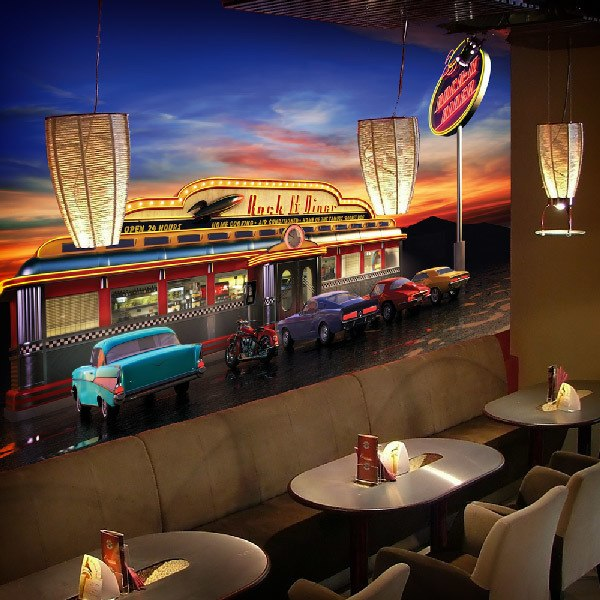 Wall Murals: Rock It Diner Cafe