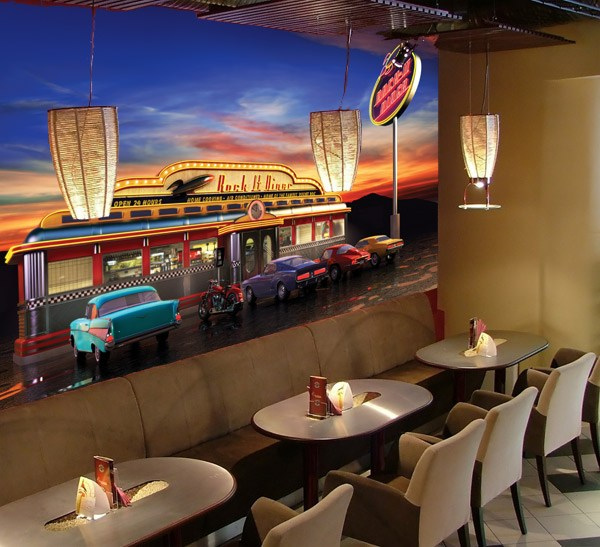 retro american diner. Black Bedroom Furniture Sets. Home Design Ideas