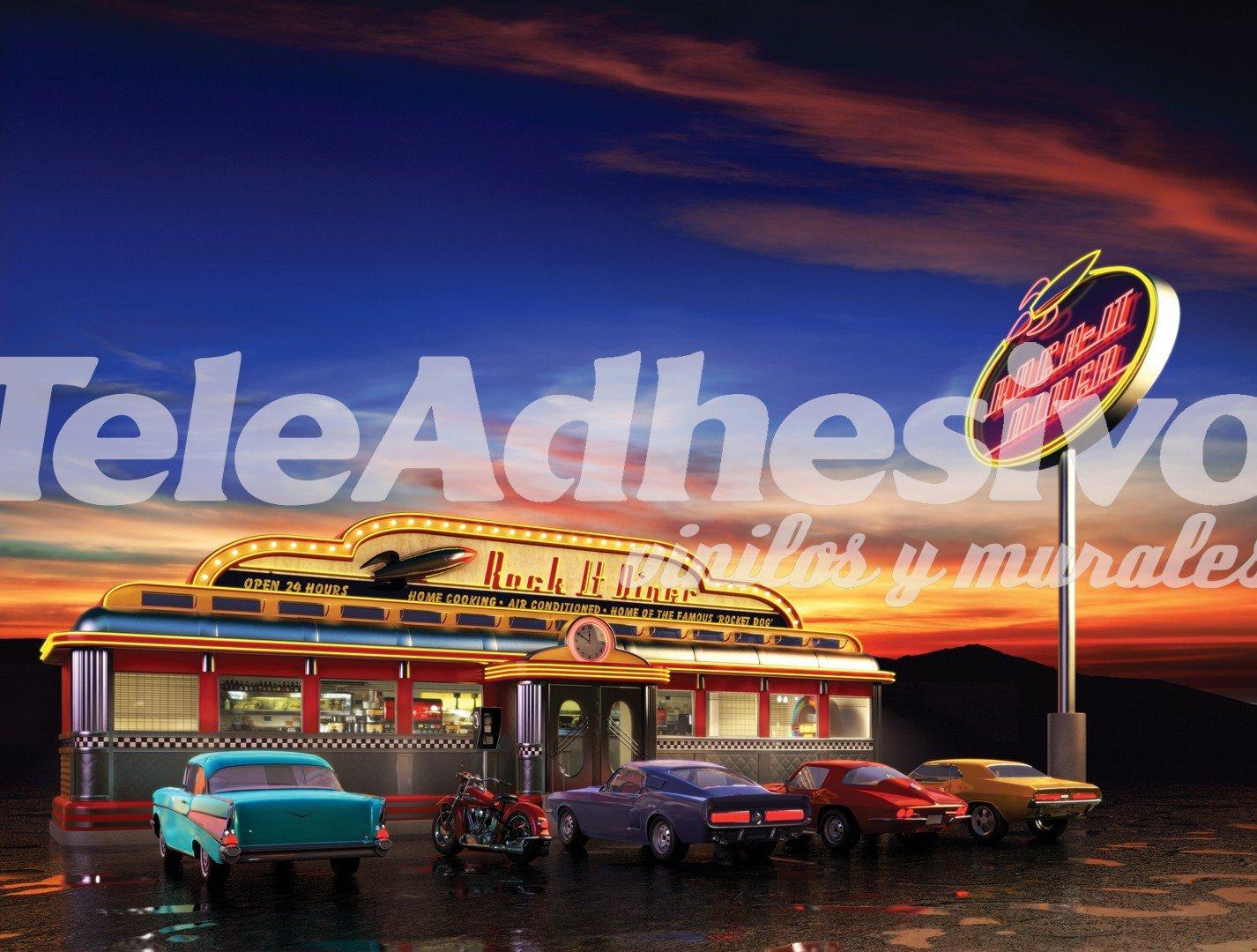 Retro american diner for Diner artwork