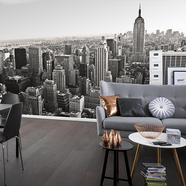 Wall Murals: Aerial view of New York 0