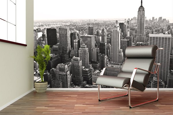 Wall Murals: Aerial view of New York