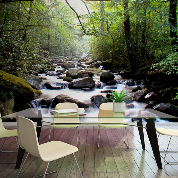 Wall Murals: River in the forest