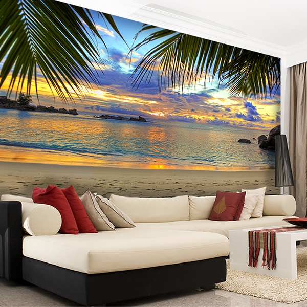 Wall Murals: Sunset beach 0