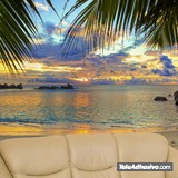 Wall Murals: Sunset beach 2