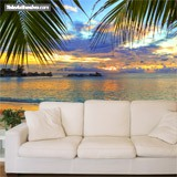 Wall Murals: Sunset beach 4