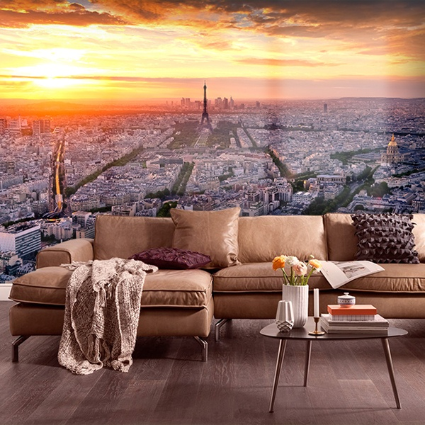 Wall Murals: Paris at sunset