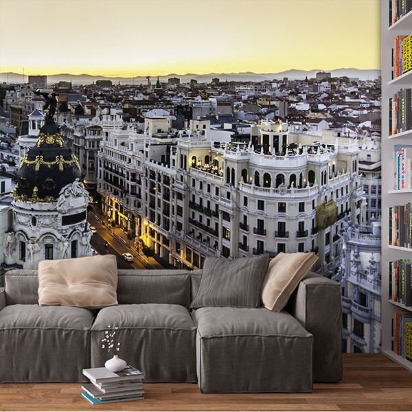 Wall Murals: Madrid Gran Via