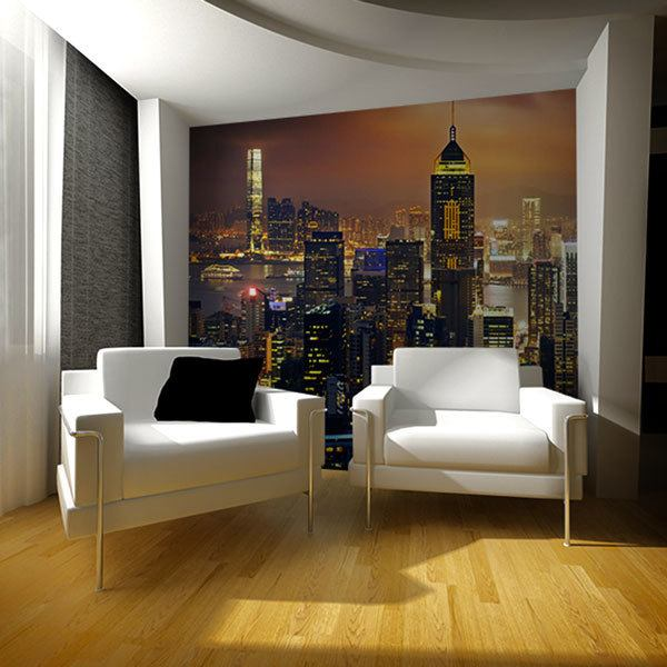 Wall Murals: Illuminated night in New York