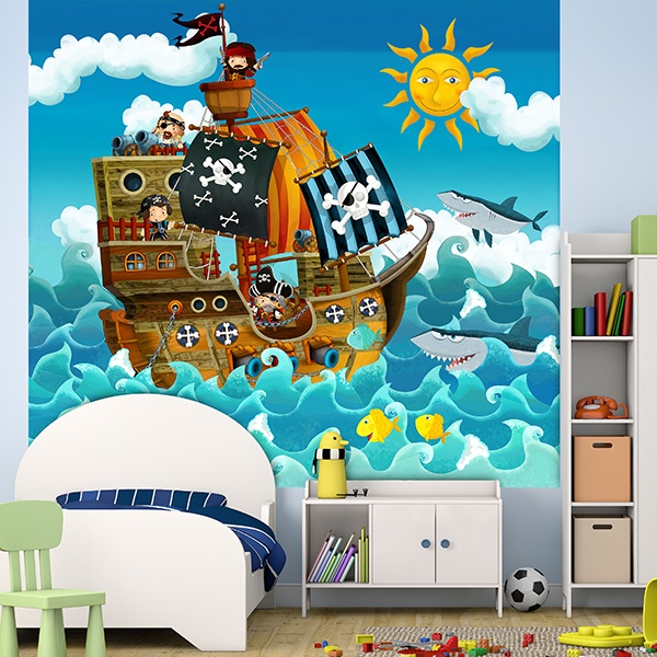 Wall Murals: Pirates Kids