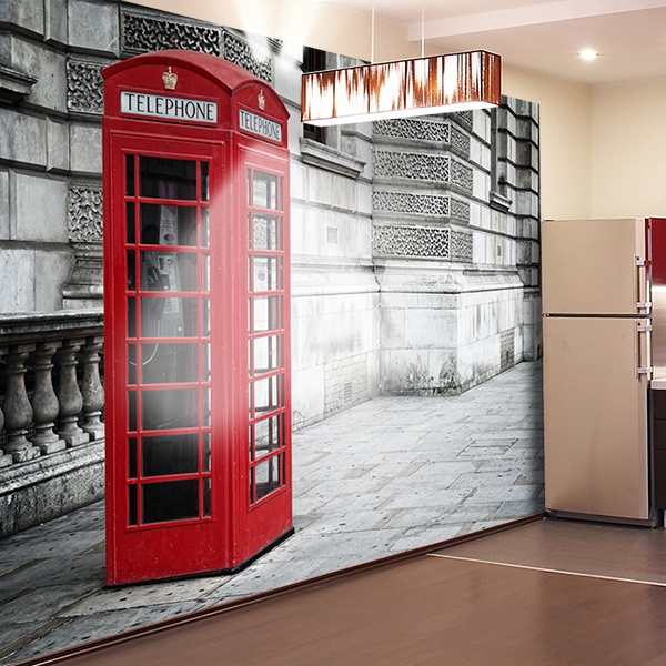 Wall Murals: English telephone booth