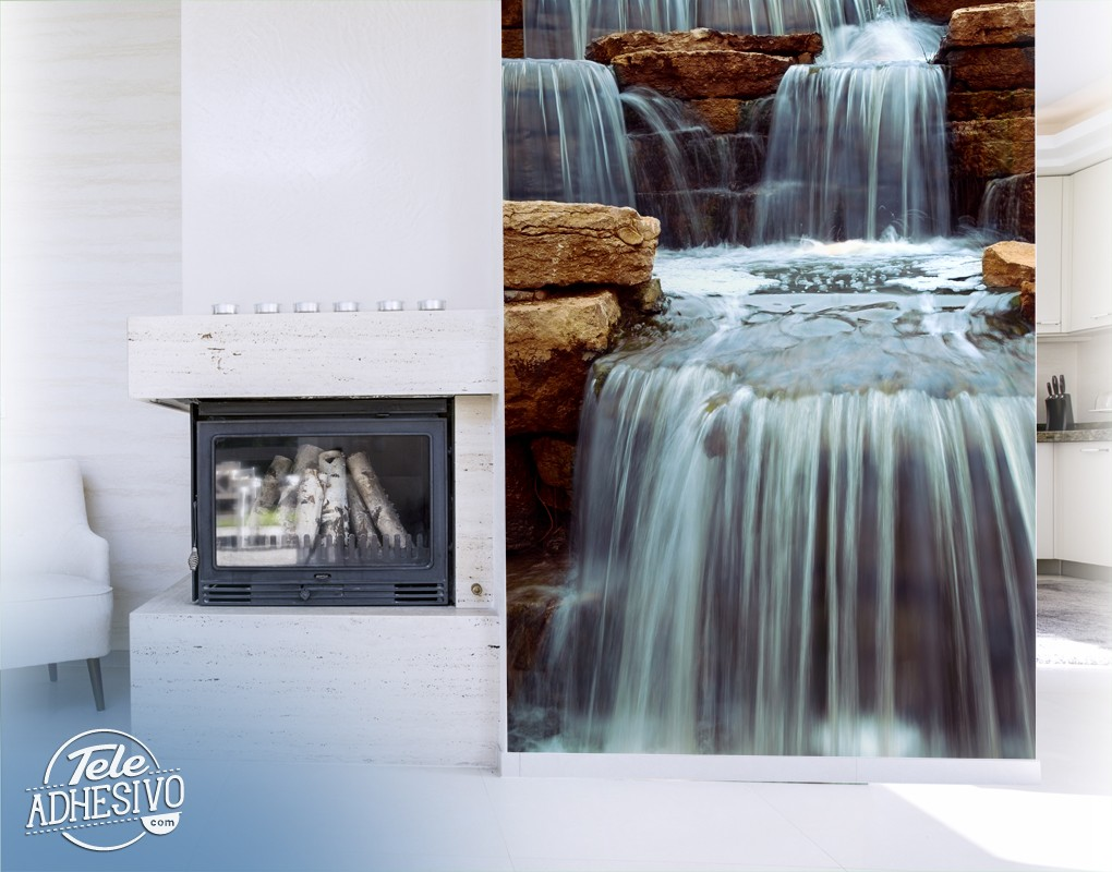 Wall Murals: Waterfall and stones