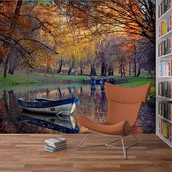 Wall Murals: Autumnal pond