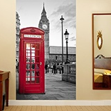 Wall Murals: London telephone booth 3