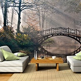 Wall Murals: Bridge in the forest 3