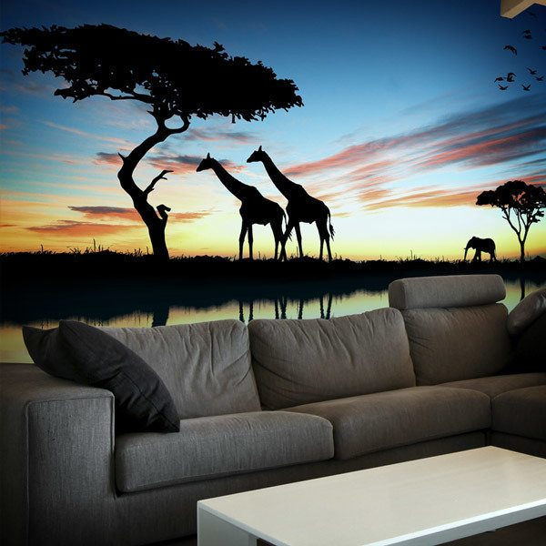Wall Murals: African sunset