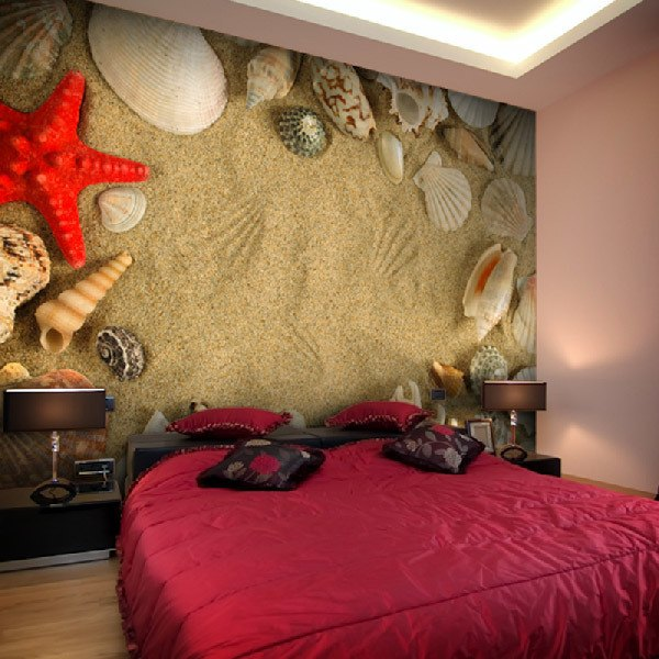 Wall Murals: Shells, shells and starfish