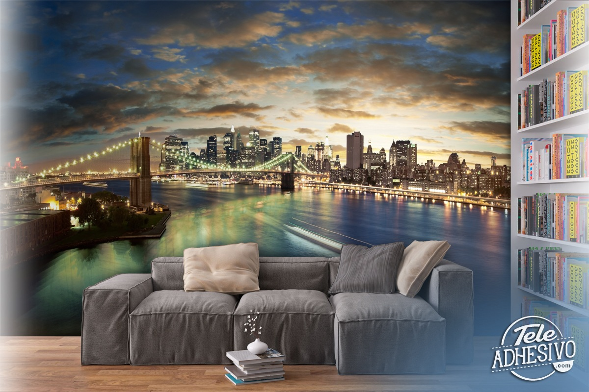 New york cityscape for Cityscape murals photo wall mural