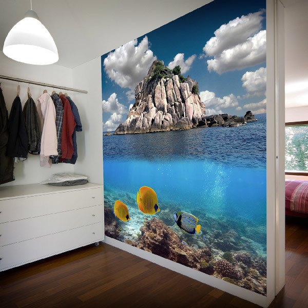 Wall Murals: Reef next to the island of rocks
