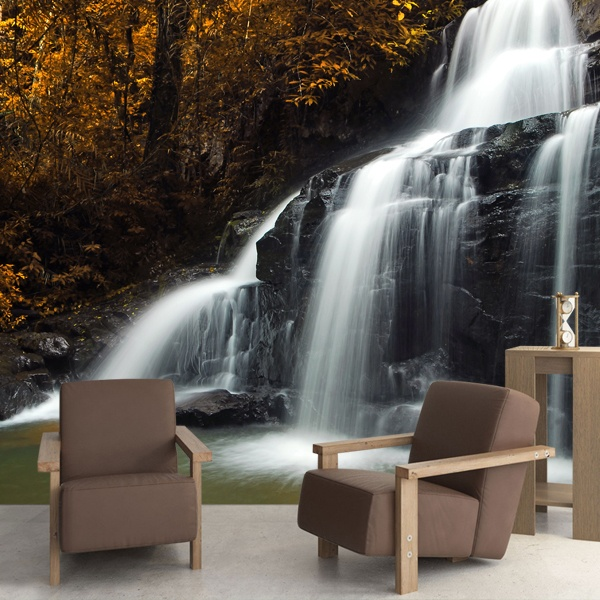 Wall Murals: Autumn Waterfall