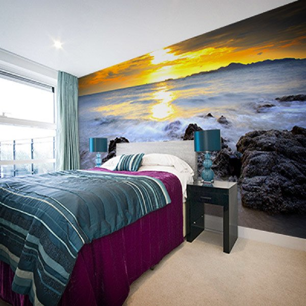Wall Murals: Rocks at Sunset