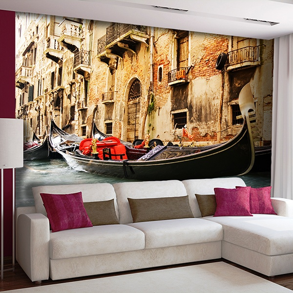Wall Murals: Gondola of Venice