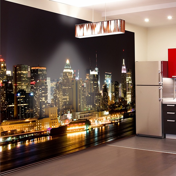 Wall Murals: New York night