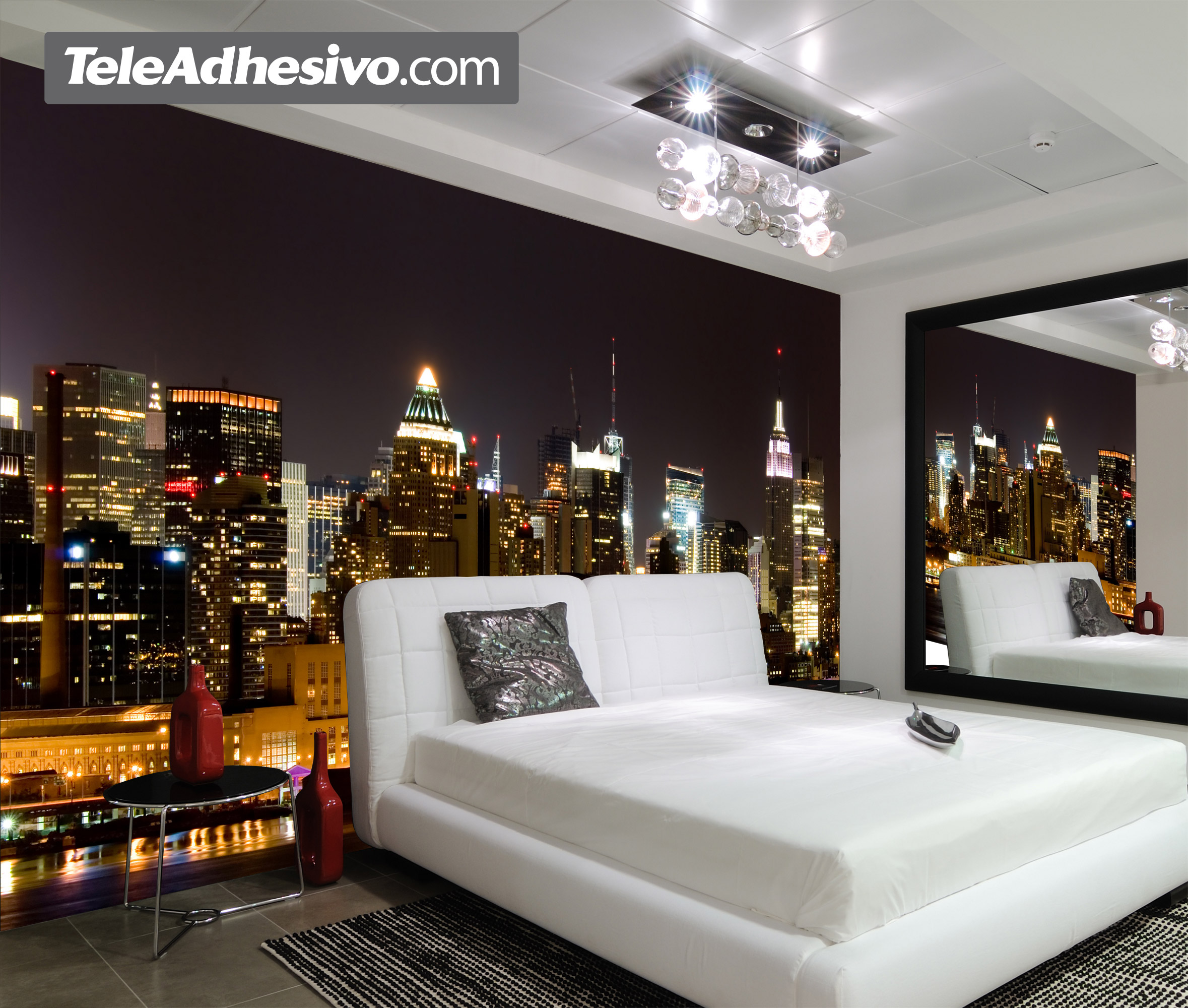 Manhattan at night - Modele chambre garcon ...