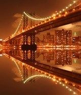 Wall Murals: Illuminated Manhattan Bridge 3