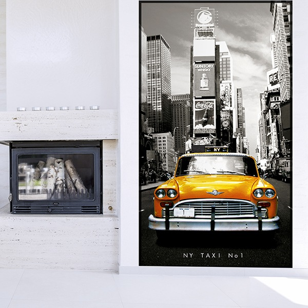 Wall Murals: New York taxi