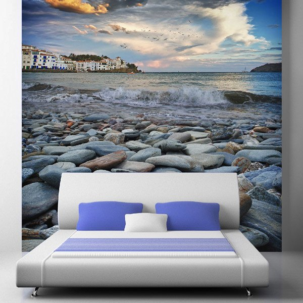 Wall Murals: seaside town