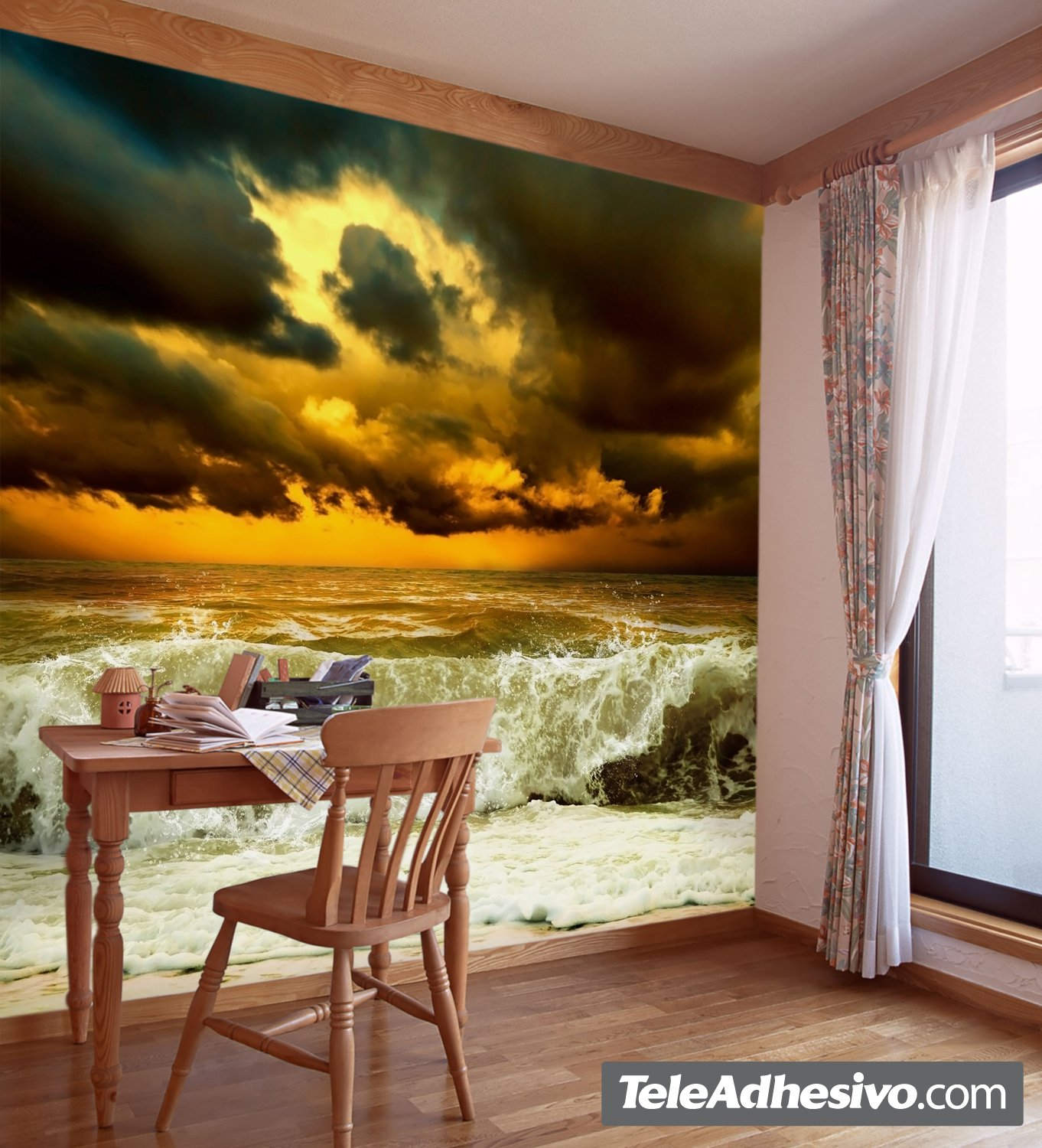Wall murals wave before the storm amipublicfo Choice Image