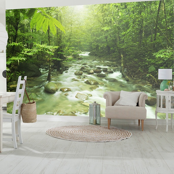 Wall Murals: River of the jungle