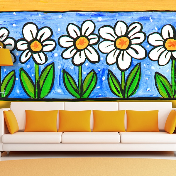 Wall Murals: Painted Flowers