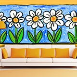 Wall Murals: Painted Flowers 2