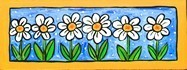 Wall Murals: Painted Flowers 3