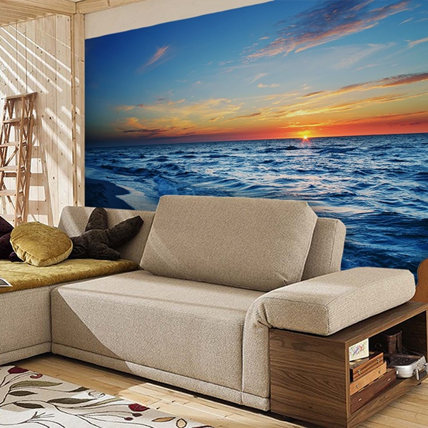 Wall Murals: Sunset on the shore